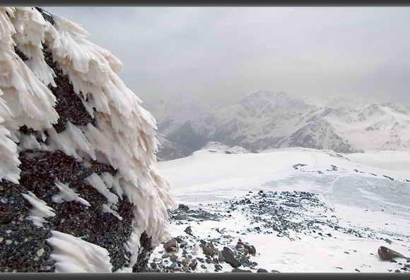 Восхождение на Эльбрус с юга. Скалы Пастухова