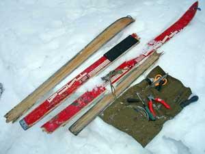 Ремонт лыжи своими руками