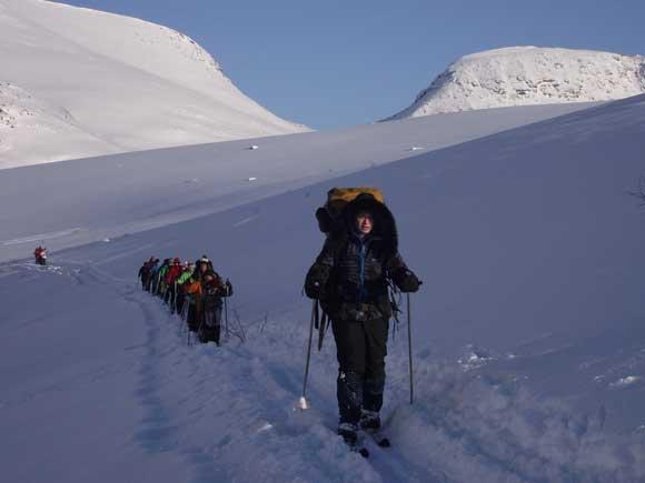 Лыжный отряд у южного Чоргорра