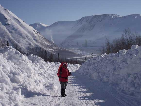 Вид на Кукисвумчорр (25 км)