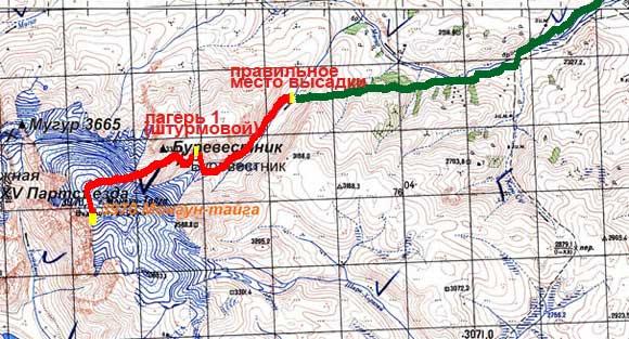 Монгун-Тайга. Оптимальный маршрут восхождения.