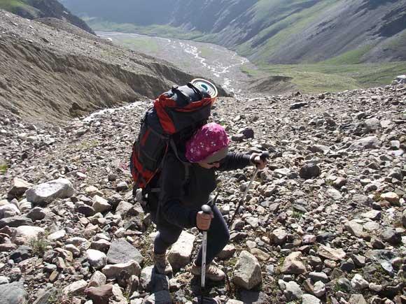 Монгун-Тайга. Путь к леднику.