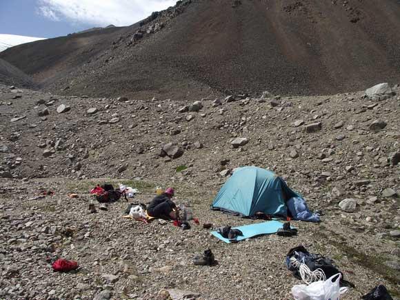 Монгун-Тайга. Штурмовой лагерь.