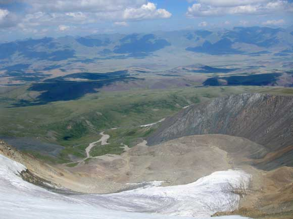 Монгун-Тайга. Вид с вершины.