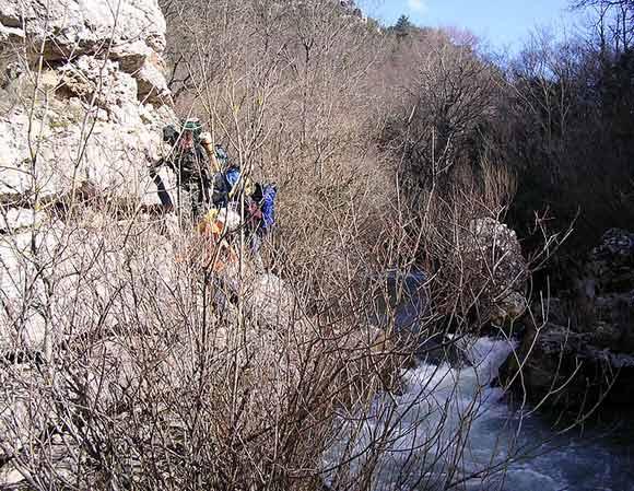 Каньонинг в Чернореченском ущелье