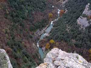 Чернореченский каньон - вид сверху