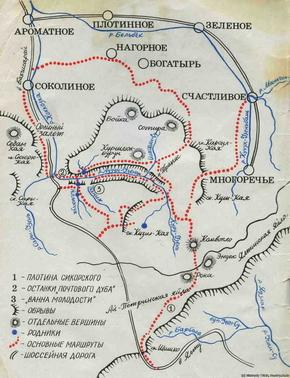 Карта Большого каньона Крыма