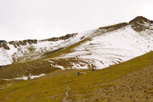 Гора Эльбрус, седой хребет