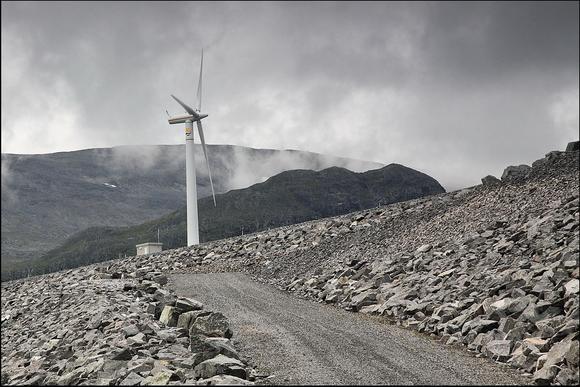 Граница национального парка Сарек, ветряки