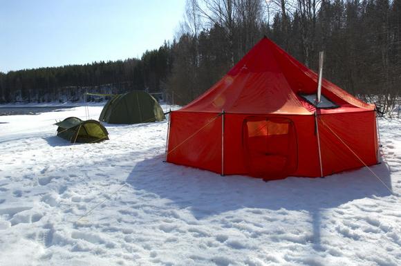 "Теплая палатка с печкой ""Зима"""