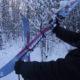Подъем на лыжах: используем веревку