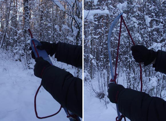 Инструкция по обмотке лыж веревкой для подъема