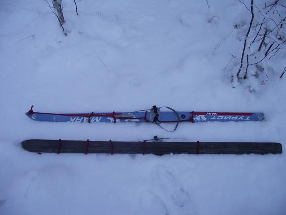 Как подготовить лыжи к подъему с помощью репшнура