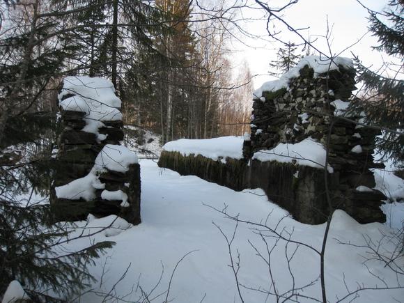 Руины мельницы на Тохмайоки