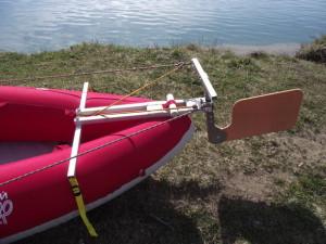 как сделать руль для лодки из дерева