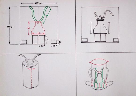 Рюкзак для надувной лодки и снаряжения: выкройки