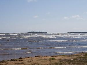 Ладожское озеро у устья реки Бурная