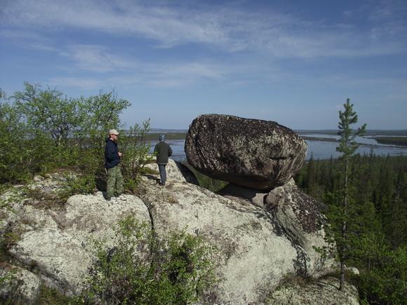 Летучий камень - сейд на реке Поной
