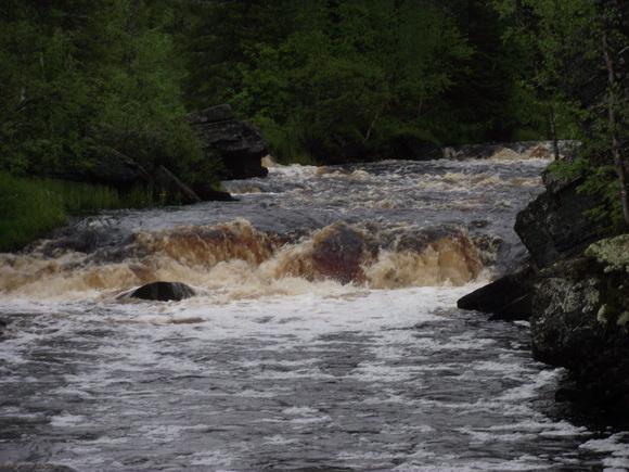 Река Варзуга, водопад Падун
