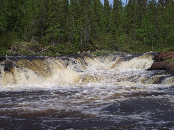 Река Серга, Мурманская область. Водопад
