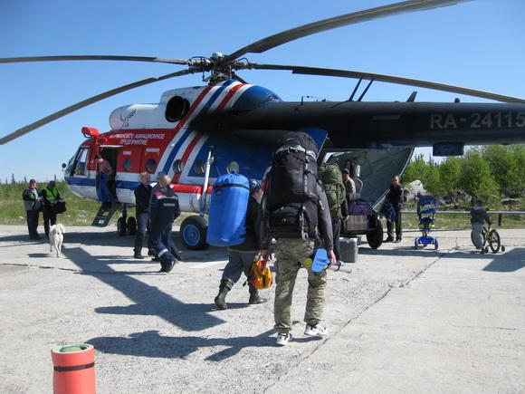 Вертолет Ловозеро - Краснощелье