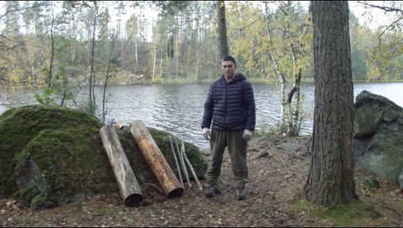 Костер нодья видео