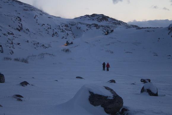 Снегоходная прогулка к водопаду Териберки