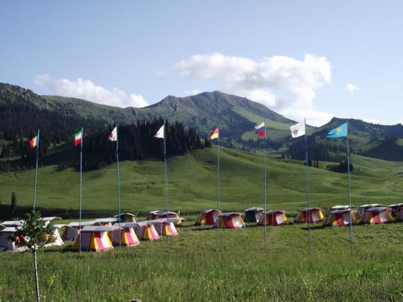 Каркара - лагерь у подножия Хан-Тенгри