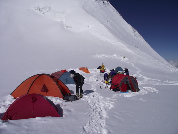 Лагерь 2, восхождение на Хан-Тенгри