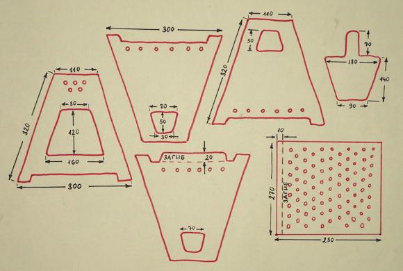 печь щепочница своими руками чертежи-схемы