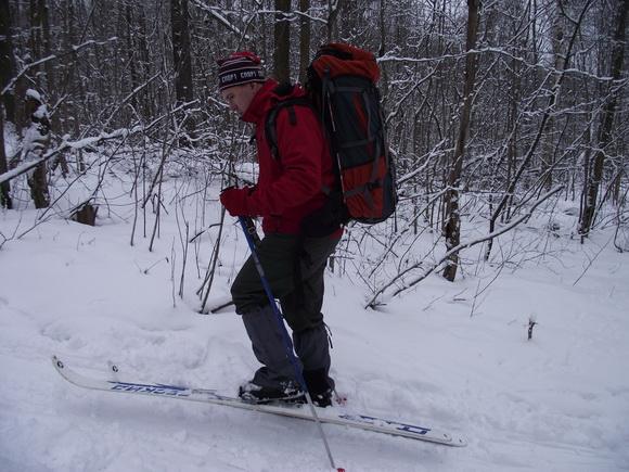 Техника подъема на лыжах в гору: ступающий шаг