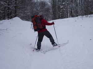 Подъем на лыжах в гору: ёлочка