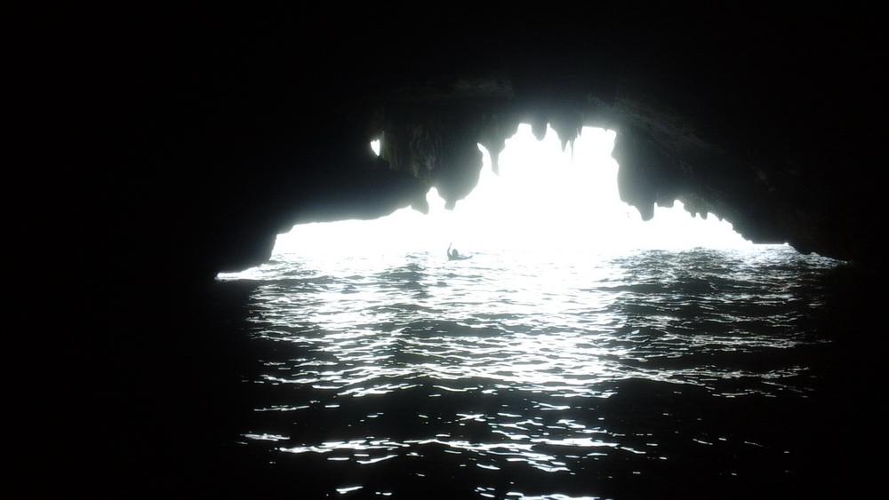 Остров Панак, Тайланд - купание в гроте