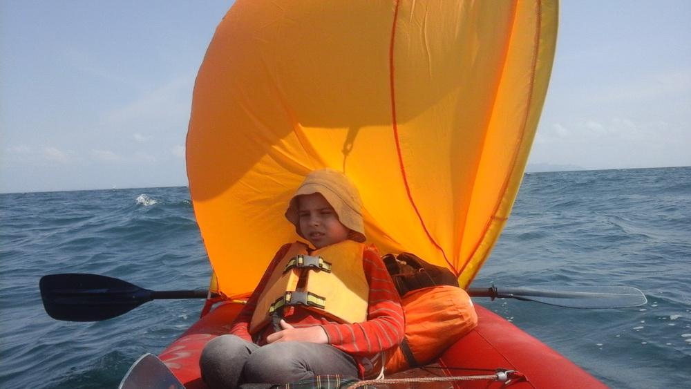 Байдарка под парусом: до острова Москито